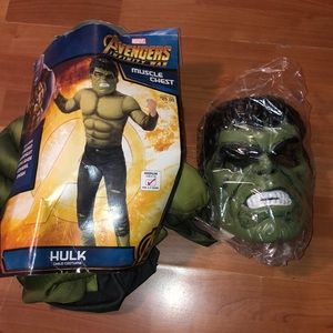 Kids Marvel Avengers Infinity War Costume Hulk